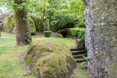 Garten von Kirche DA Penha, Guimaraes, Lizenzfreie Stockbilder
