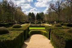 Garten von La Granja de San Ildefonso, Spanien Stockfotos