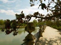 Garten von Royal Palace von Aranjuez Stockbilder