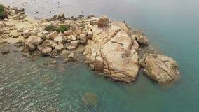 Garten von Steinen in Vietnam, Nha Trang stock footage