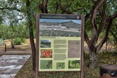 Garten von Tumacacori-Auftrag Lizenzfreies Stockbild