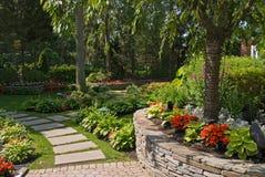 Garten-Wand Lizenzfreies Stockbild