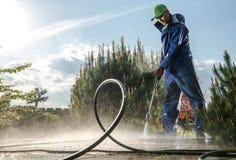Garten-waschende Wartung lizenzfreie stockfotos