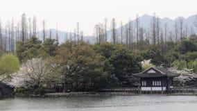Garten in Westsee von Hangzhou, China Lizenzfreie Stockfotografie