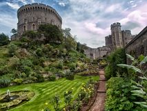 Garten in Windsor-Schloss Stockfoto