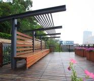 Garten Wohn in China stockbild