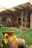 Gartenansicht Stockfotos