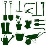 Gartenarbeit bearbeitet green&white Lizenzfreies Stockfoto