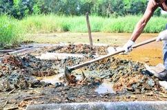 Gartenarbeit für das Heilen und Behandlung der Bodenverunreinigung Lizenzfreie Stockfotografie