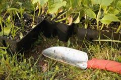 Gartenarbeit-Hilfsmittel Lizenzfreies Stockfoto