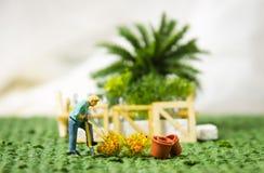 Gartenarbeit, Konzept pflanzend Lizenzfreies Stockfoto