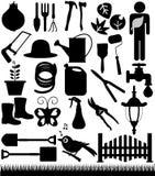 Gartenarbeit und Gartenhilfsmittel Stockfoto