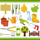 Gartenarbeit und Gartenhilfsmittel/Ausrüstungen Stockfotos
