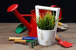 Gartenarbeithilfsmittel neu, Stocktellersegment Lizenzfreies Stockfoto