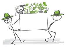 Gartenarbeitjahreszeit geöffnet lizenzfreie abbildung