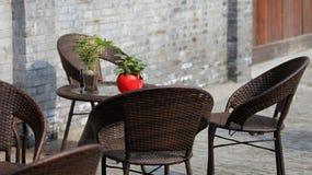 Gartenarbeittopfpflanze des Behälters Lizenzfreie Stockfotos