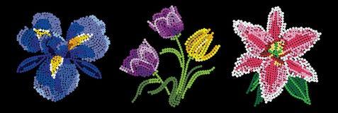 Gartenblumen von Pailletten Lizenzfreie Stockfotos