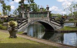 Gartenbrücke, Bali Stockfotografie