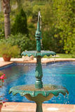 Gartenbrunnen Stockfoto