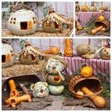 Gartendekoration für Herbst Stockfoto