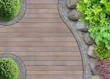 Gartendesign in der Draufsicht Stockbild