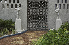 Garteneingang stockbilder