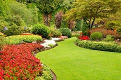Garteneinstellung lizenzfreie stockfotos