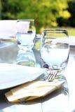 Gartenfesttabelle lizenzfreies stockfoto