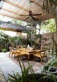 Gartengaststätte stockfoto