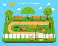 Gartenkonzeptillustration Stockfotos