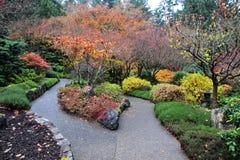 Gartenlandschaftsgestaltung Stockbild