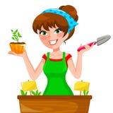 Gartenmädchen lizenzfreie abbildung