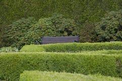 Gartenmusterdesign-Ruheecke Stockbilder