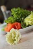 Gartennelke gemacht vom Pekinesekohl Lizenzfreies Stockfoto