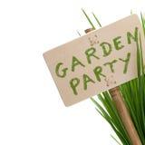 Gartenpartymeldung Lizenzfreie Stockbilder