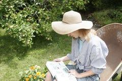 Gartenportraits Stockfotografie