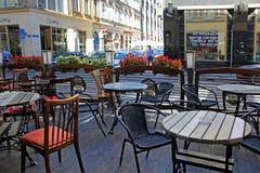 Gartenrestaurant in den Straßen von BRESLAU in POLEN - 12 09 2016: Polen, Europa Stockfoto