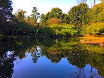 Gartensee Heian Jingu Stockfotos