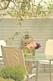 Gartentabelle Stockfoto