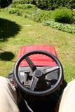 Gartentraktor Stockfotografie