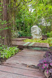 Gartenweg stockbild