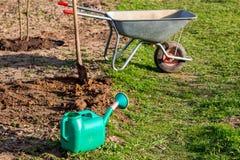 Gartenwerkzeuge im Land stockbilder
