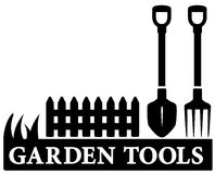 Gartenwerkzeugikone Stockfotografie