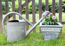 Am Gartenzaun stockfoto