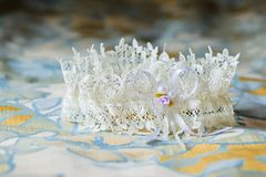 Garter of the bride Royalty Free Stock Photos