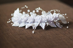 Garter of the bride Stock Images