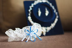 Garter of the bride Royalty Free Stock Images