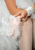 Garter of bride Royalty Free Stock Photo