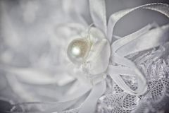 Garter of the bride Stock Image