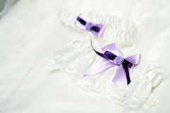 Garter of the bride Stock Photos